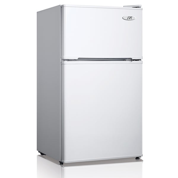 SPT Energy Star 3.1 Cubic Foot Double Door White Refrigerator 13182834
