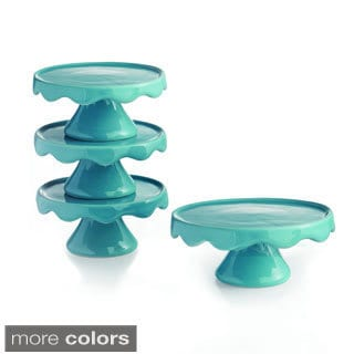Wave (Set of 4) Cup Cake Pedestal Plate