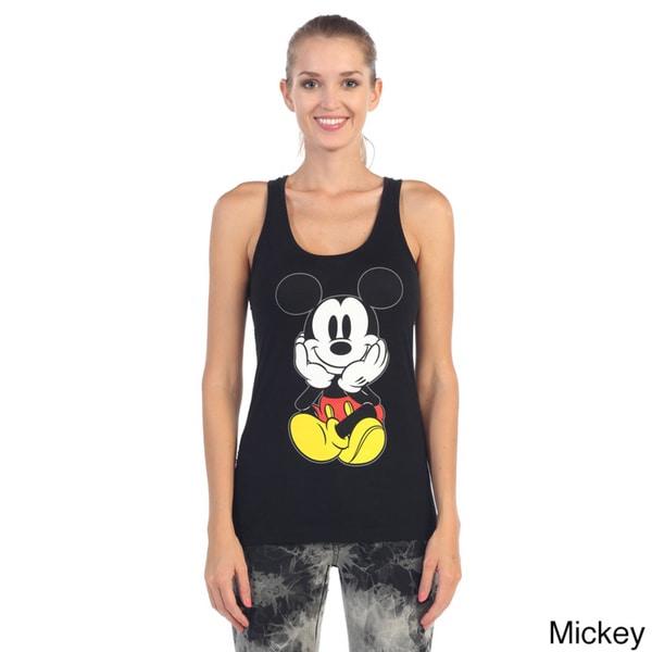 Hadari Women's Mouse Black Graphic Tank Top
