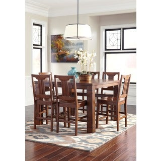 Signature Designs by Ashley Chimerin Counter-height Medium Brown Dining Room Extension Table