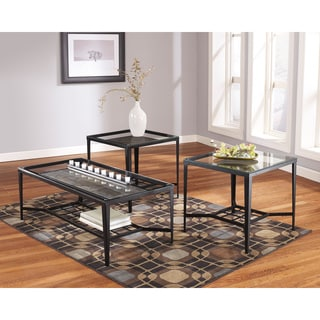 Signature Designs by Ashley Metal Occasional Table Set (Set of 3)