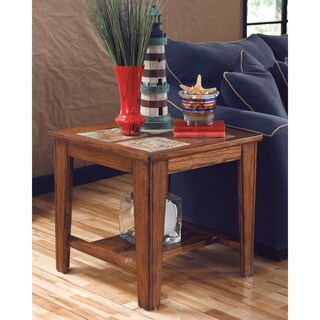 Signature Designs by Ashley Toscana Rich Warm Brown End Table