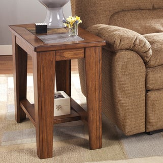 Signature Designs by Ashley Toscana Rich Warm Brown Chair Side End Table