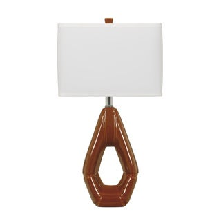 Signature Designs by Ashley Rumiko Burnt Orange Ceramic Table Lamps (Set of 2)