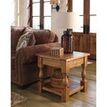 Signature Designs by Ashley Shirwind Square Light Brown End Table