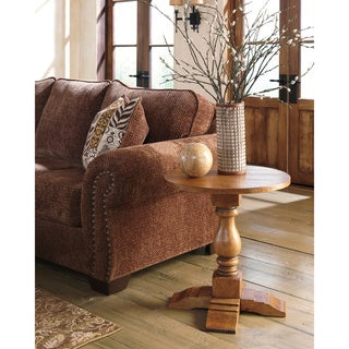 Signature Designs by Ashley Shirwind Round Light Brown End Table