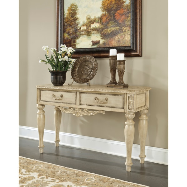 Signature Designs by Ashley Ortanique Light Opulent White  : Signature Designs by Ashley Ortanique Light Opulent White Sofa Table f604f4c5 dab9 47ba bb5d 2c66e837c532600 from www.overstock.com size 600 x 600 jpeg 69kB