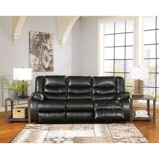 Signature Design by Ashley Linebacker DuraBlend Black Reclining Power Sofa