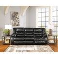 Signature Design by Ashley Linebacker DuraBlend Black Reclining Power Sofa