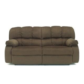 Signature Designs by Ashley Ledgestone Walnut 2-seat Reclining Power Sofa
