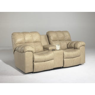 Signature Designs by Ashley Max Chamois Double Recliner Loveseat with Console