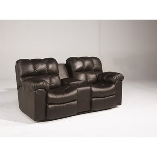 Signature Designs by Ashley Max Chocolate Double Recliner Loveseat with Console