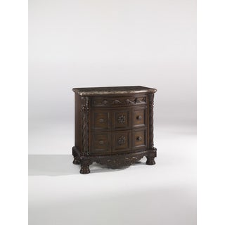 Signature Design by Ashley North Shore Three Drawer Night Stand Dark Brown