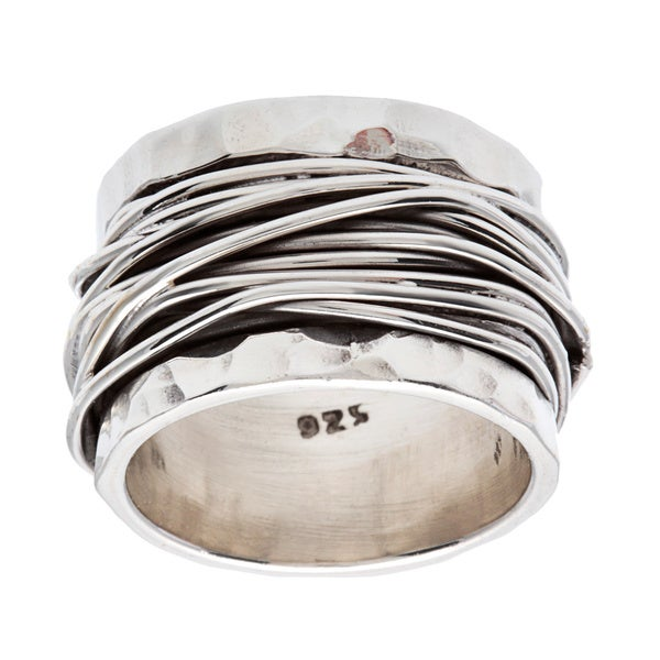 Substantial .925 Sterling Silver Wrap Ring
