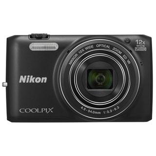 Nikon Coolpix S6800 16MP Black Digital Camera