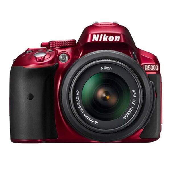Nikon D5300 24.2MP Red Digital SLR Camera with 18-55mm Lens