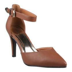 Women's Beston Jules-02 Brown Faux Leather