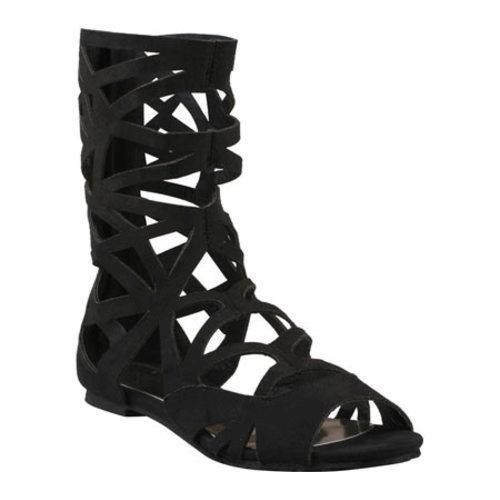 Women's Beston York-01 Black Faux Suede