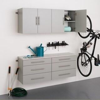 Stone Grey 4-piece Storage Cabinet Set