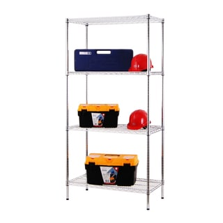 Excel Chrome (72 in. H x 36 in. W x 18 in. D) All Purpose Heavy Duty 4-tier Wire Shelving