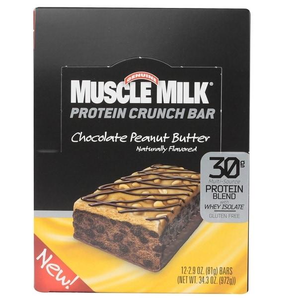 Muscle Milk Chocolate Peanut Butter Crunch Bar 12-count