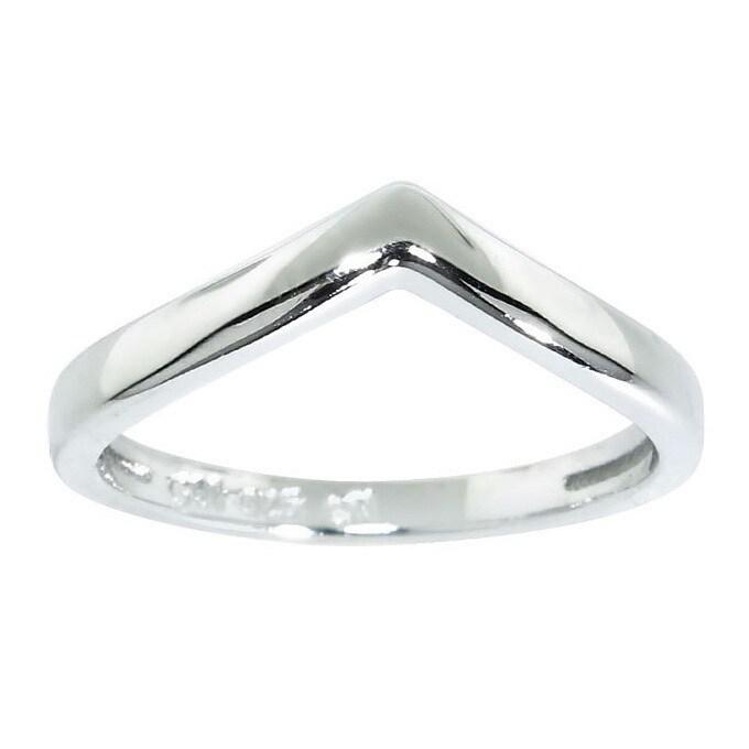 Eternally Haute Eternally Haute Sterling Silver Chevron Midi Knuckle Rings