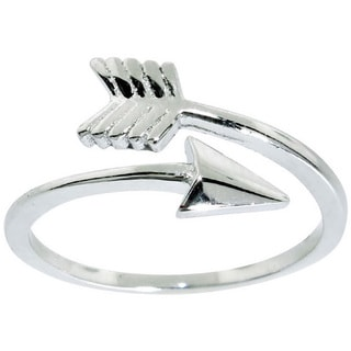 Eternally Haute Sterling Silver Adjustable Arrow Midi Knuckle Ring