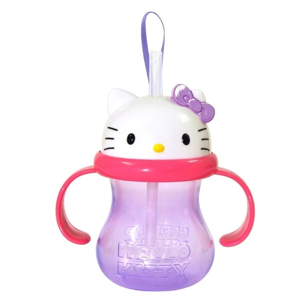 Munchkin Hello Kitty 8-ounce Straw Cup in Purple 13186986