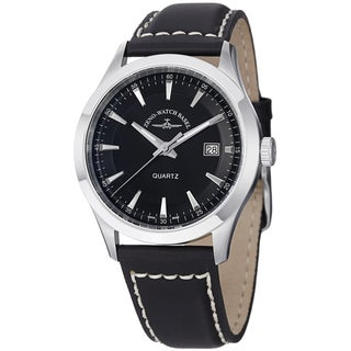 Zeno Men's 6662-515Q-G1 'VintageLine' Black Dial Black Leather Strap Watch