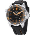 Zeno Men's 6603Q-A15 'Divers' Black Dial Black Rubber Strap Quartz Watch