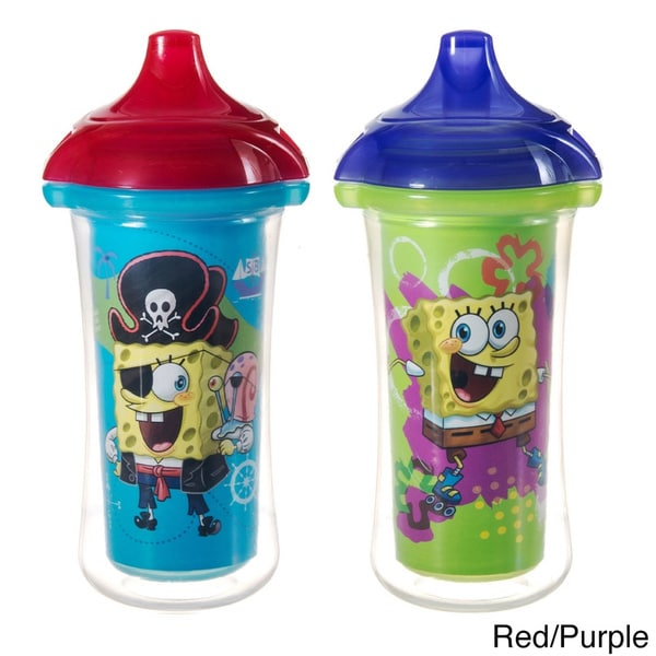 Munchkin SpongeBob SquarePants Click Lock 9-ounce Insulated Sippy Cup (Pack of 2)