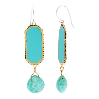 Cabo Aqua Amazonite Teardrop Dangle Earrings