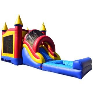 JumpOrange Rainbow Mega Wet/ Dry Bouncy House and Slide Combo