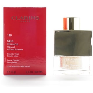 Clarins Skin Illusion Mineral and Plant Extracts 110 Honey Loose Powder Foundation with Brush