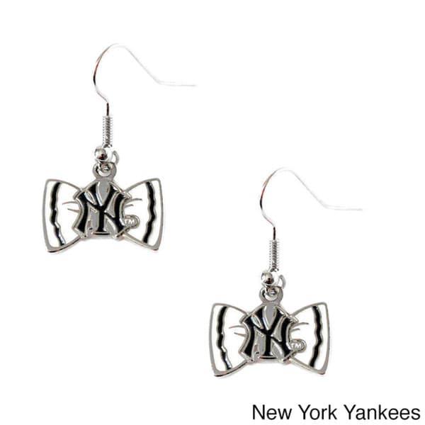 MLB Team Logo Bow Tie Earrings Gift Set 13188177