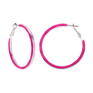 Alexa Starr 2-sided Epoxy Hoop Earrings