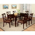 Furniture of America Xenise 7-piece Dark Walnut Dining Set