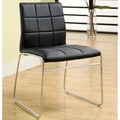 Furniture of America Donnabella Tufted Leatherette Side Chair (Set of 2)