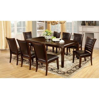 Furniture of America Disanyi 7-piece Brown Cherry Extendable Dining Set