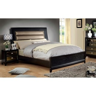 Furniture of America Goldvida Luxury 2-Piece Bed with Nightstand Set