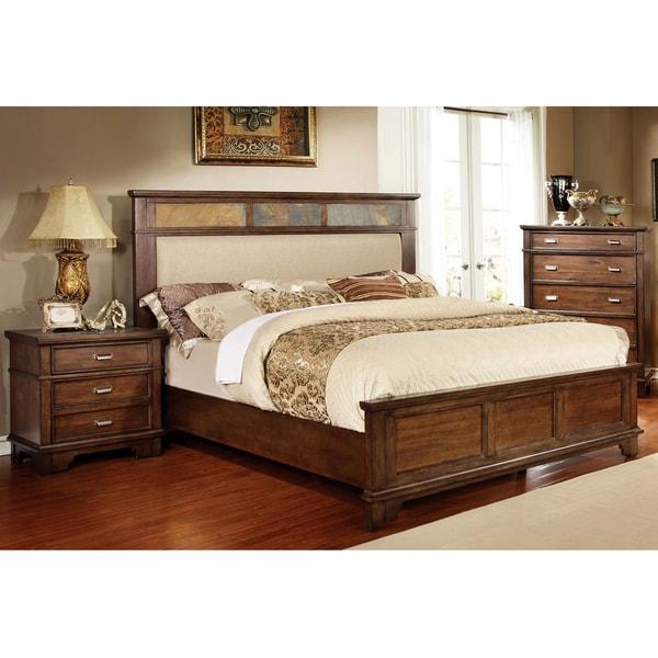 Furniture Of America Glisea 3 Piece Brown Cherry Bed Set