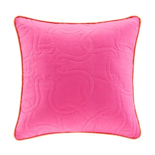 Echo Catalina 18-inch Square Fuchsia Quilted Throw Pillow