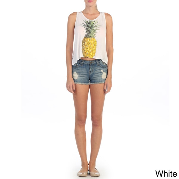 Hadari Women's Pineapple Asymetrical Tank