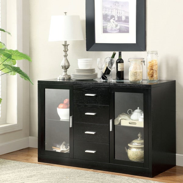 Furniture of America Lumina Espresso Light-up Server