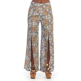 Hadari Women's Floral Plazzo Pants