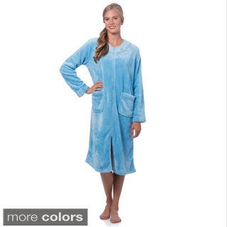 Super Plush Zip-front Robe