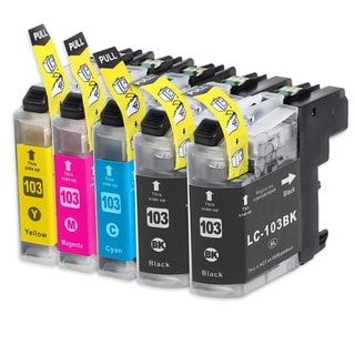 INKUTEN Compatible Brother High Yield Ink Cartridges (Pack of 5)