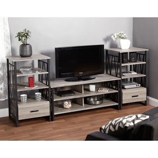 Simple Living Seneca Black/ Grey Reclaimed 48-inch 3-piece Media Console