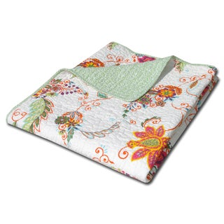 Greenland Home Fashions Barcelona Paisley Quilted Cotton Throw