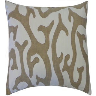 20 x 20-inch Reef Taupe Throw Pillow